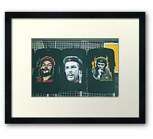 Three Faces of Che. Framed Print