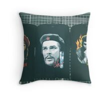 Three Faces of Che. Throw Pillow