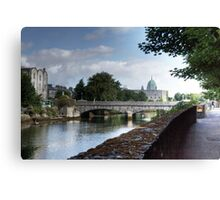 The Canal - Galway, County Galway, Ireland Canvas Print