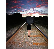 Walking The Line Photographic Print
