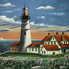 Portland Head Light by Gordon  Beck