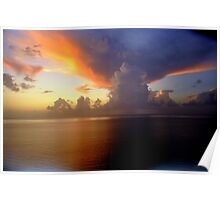 miami weather - ominous clouds  Poster