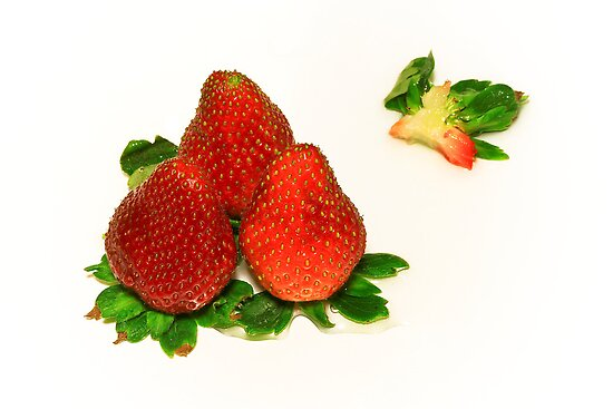 4... No... 3 Strawberries by Evelina Kremsdorf