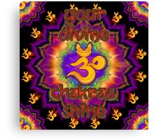 Divine Chakras Shine Canvas Print