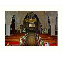 Slingsby Church Interior Art Print