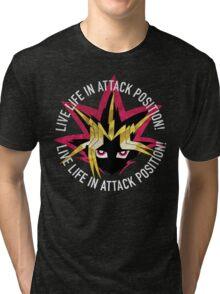 Yugi - Live life in attack position! Tri-blend T-Shirt