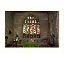Slingsby Church Window Art Print