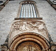 Front aspect of Iglesia de Sant Joan Baptista. by Tigersoul