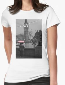 The Pink Umbrella Womens Fitted T-Shirt