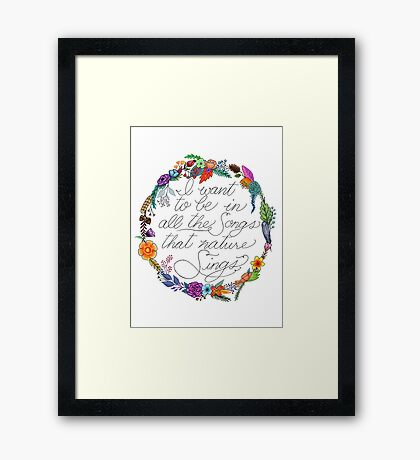 Nature Sings Framed Print