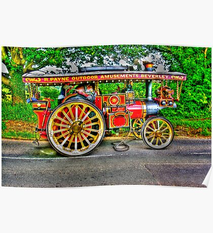 Steam Traction Engine #1 HDR Poster