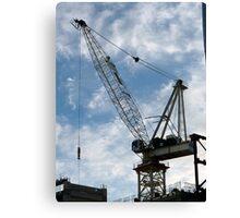 Crane and Sky Canvas Print