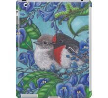 """Red Capped Robins Awaiting Dinner Guest"" iPad Case/Skin"