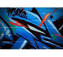 Chunk of grafitti Photographic Print