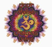 Divine Chakras Shine One Piece - Long Sleeve