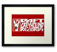 Daft Greyhound Records Framed Print