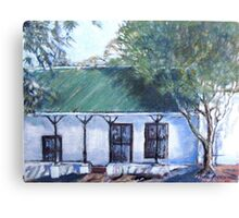 Old semi-detached house in Piketberg Canvas Print