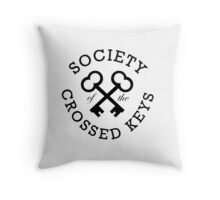 Society of the Crossed Keys Throw Pillow