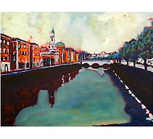 Liffey, Arran Quay and Ushers Quay - Dublin Photographic Print