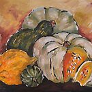 Pumpkin Still Life by Marie Theron
