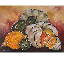 Pumpkin Still Life Photographic Print