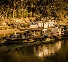 Paddle steamer by Kathryn Potempski