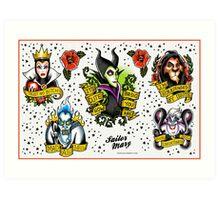 Villains Flash Sheet Art Print