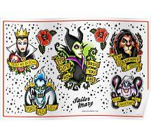 Villains Flash Sheet Poster
