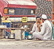 Waari - On a tea break by Prasad