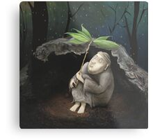 He shelters from the Rain Metal Print