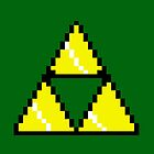 8 Bit Triforce pixel by salodelyma