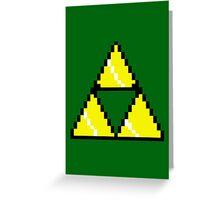 8 Bit Triforce pixel Greeting Card