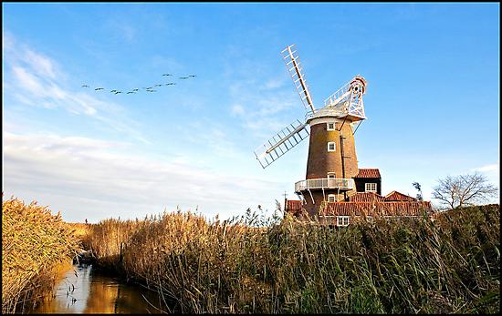 Cley Windmill Norfolk by ten2eight