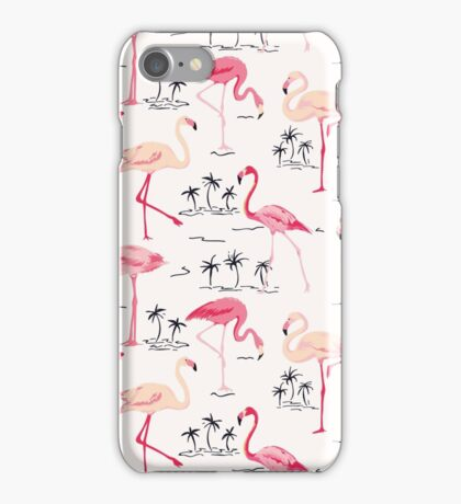 Flamingo Bird Retro Background iPhone Case/Skin