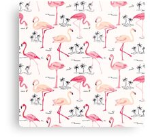 Flamingo Bird Retro Background Metal Print