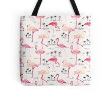 Flamingo Bird Retro Background Tote Bag