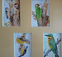 FOUR MINIATURES TOGETHER by Marilyn Grimble