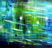 Midnight pond by Clare McCarthy