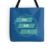 """One Direction- """"YOU AND I"""" Tote Bag"""