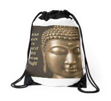 Buddah quote Drawstring Bag