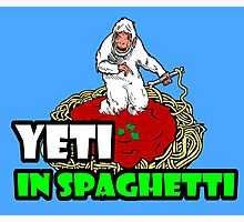YETI IN SPAGHETTI Photographic Print
