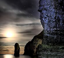 Midnight, All Alone On the Beach by PCWillows