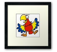 Colorful parrot bird cartoon Framed Print