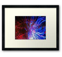 Red V Blue Framed Print
