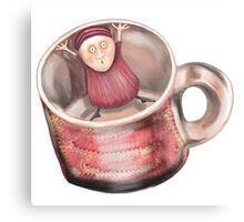In the Cup! Metal Print