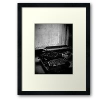 All Work and No Play Makes Jack a Dull Boy ~ West Park Asylum Framed Print