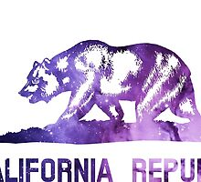 Purple California Bear Flag Nebula by everyonedesigns