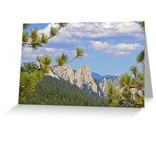 View from Dome Rock, Sierra Nevadas, Ca. Greeting Card