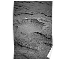 Sand formed by wind Poster