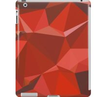 Auburn Red Abstract Low Polygon Background iPad Case/Skin